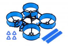Carbon und 3D Druck Tuningrahmen für Mobula6 in blau