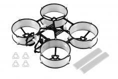 Carbon und 3D Druck Tuningrahmen für Mobula6 in weiß