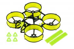 Carbon und 3D Druck Tuningrahmen für Mobula6 in gelb