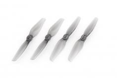 HQ Durable Propeller T3x1,5 mit 1.9/1.4/1.9mm Welle aus Poly Carbonate in grau transparent je 2xCW+ 2xCCW