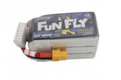 TATTU FunFly 1550mAh 22.2V 100C 6S1P Lipo Akku mit XT60 Anschluss