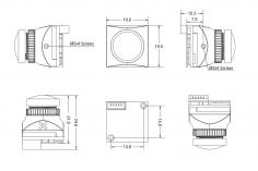 Foxeer Micro Toothless 2 StarLight FPV Camera 1/2 Sensor Super HDR 1200TVL 1,7mm in schwarz