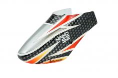 XCanopy Fiberglas Haube Conterret im schwarz rot grauem Design für den Blade Nano S2
