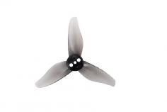 Gemfan 3 Blatt Propeller 2023 2,0x2,3x3 1mm Welle je 4x CW und 4 x CCW in grau transparent