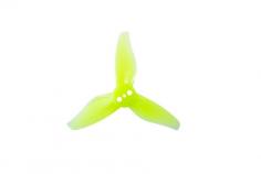 Gemfan 3 Blatt Propeller 2023 2,0x2,3x3 1mm Welle je 4x CW und 4 x CCW in gelb transparent