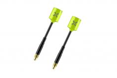 Foxeer Lollipop MICRO FPV Antennen Set RHCP mit geraden MMCX Anschluss in neon gelb 2 Stück