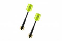 Foxeer Lollipop MICRO FPV Antennen Set RHCP mit SMA (mit Pin) Anschluss in neon gelb 2 Stück