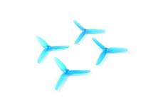 Happymodel 3-Blatt Propeller 65mm in blau 1,5mm Welle 2xCW und 2xCCW