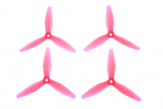HQ Durable Prop Propeller 5X4,5X3V3 aus Poly Carbonate in pink transparent je 2CW+2CCW