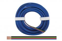 4-Fachkabel - Vierlingslitze 0,50 mm² / 10 meter für RGB LED Streifen
