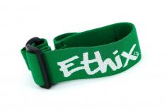 Ethix Goggle Strap V3 in grün mit weißem Logo