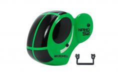 Microheli Fiberglas Haube Dragonfly in grün für den Blade Nano S2