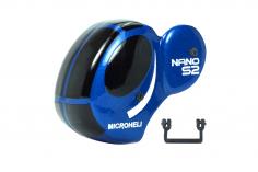 Microheli Fiberglas Haube Dragonfly in blau für den Blade Nano S2