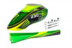 Microheli  Rumpf in Green Monster Design  für Blade 230S und 230S V2