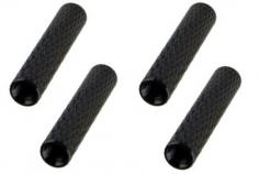 Abstandshalter / Spacer / Standoff M3 Aluminium eloxiert gerändelt in schwarz 4Stück 50mm