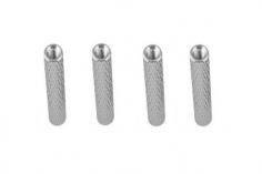 Abstandshalter / Spacer / Standoff M3 Aluminium eloxiert gerändelt in silber 4Stück 50mm