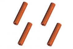 Abstandshalter / Spacer / Standoff M3 Aluminium eloxiert gerändelt in orange 4Stück 45mm