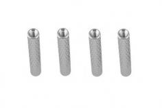Abstandshalter / Spacer / Standoff M3 Aluminium eloxiert gerändelt in silber 4Stück 45mm