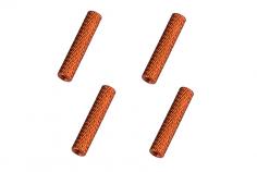 Abstandshalter / Spacer / Standoff M3 Aluminium eloxiert gerändelt in orange 4Stück 40mm