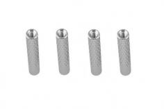 Abstandshalter / Spacer / Standoff M3 Aluminium eloxiert gerändelt in silber 4Stück 40mm