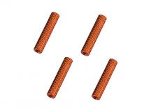 Abstandshalter / Spacer / Standoff M3 Aluminium eloxiert gerändelt in orange 4Stück 35mm