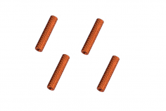 Abstandshalter / Spacer / Standoff M3 Aluminium eloxiert gerändelt in orange 4Stück 30mm