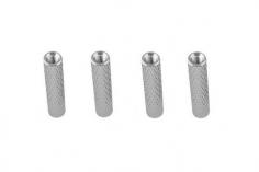 Abstandshalter / Spacer / Standoff M3 Aluminium eloxiert gerändelt in silber 4Stück 30mm
