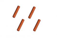 Abstandshalter / Spacer / Standoff M3 Aluminium eloxiert gerändelt in orange 4Stück 20mm