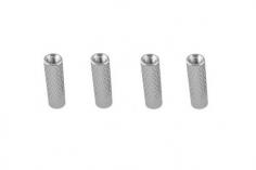 Abstandshalter / Spacer / Standoff M3 Aluminium eloxiert gerändelt in silber 4Stück 20mm