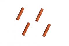 Abstandshalter / Spacer / Standoff M3 Aluminium eloxiert gerändelt in orange 4Stück 15mm