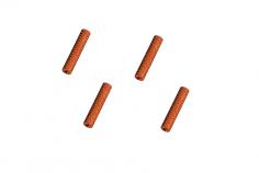 Abstandshalter / Spacer / Standoff M3 Aluminium eloxiert gerändelt in orange 4Stück 10mm
