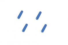 Abstandshalter / Spacer / Standoff M3 Aluminium eloxiert gerändelt in blau 4Stück 10mm