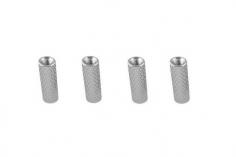 Abstandshalter / Spacer / Standoff M3 Aluminium eloxiert gerändelt in silber 4Stück 10mm