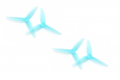 HQ Propeller HeadsUpTinny T3x1,8x3 mit 2mm Welle aus Poly Carbonate in blau transparent je 2xCW+ 2xCCW