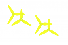 HQ Propeller HeadsUpTinny T3x1,8x3 mit 1,5mm Welle aus Poly Carbonate in gelb transparent je 2xCW+ 2xCCW