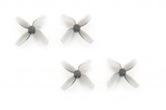 HQ Micro Whoop 4 Blatt Propeller 31mm je 2 Stück CW und CCW für 1mm Welle in grau transparent