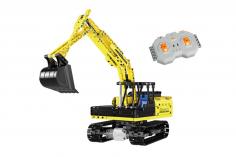 CaDa Klemmbausteine - Bagger - RC Set RTR mit Fernsteuerung und Antriebsset bestehend aus 544 Teilen