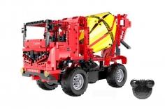 CaDa Klemmbausteine - Betonmischer LKW 2in1 - RC Set RTR mit Fernsteuerung und Antriebsset bestehend aus 814 Teilen