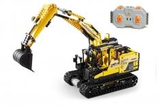 CaDa Klemmbausteine - Bagger/Rock Man - RC Set RTR mit Fernsteuerung und Antriebsset - 930 Teile