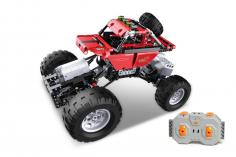 CaDa Klemmbausteine - Off Road Auto in rot - RC Set RTR mit Fernsteuerung und Antriebsset bestehend aus 489 Teilen