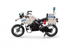 Cada Klemmbausteine - Polizeimotorad- Standmodell bestehend aus 539 Teilen