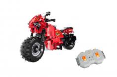 CaDa Klemmbausteine - Rennmotorrad - RC Set RTR mit Fernsteuerung und Antriebsset - 484 Teile