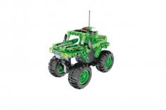 Cada Klemmbausteine -  Monster Off Road Truck in grün- Pullback-Antrieb (Rückzieh-Antrieb) bestehend aus 182 Teilen