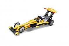 Cada Klemmbausteine -Top Fuel Drag Racing Auto- Pullback-Antrieb (Rückzieh-Antrieb) - 151 Teile