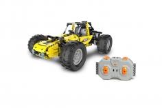 CaDa Klemmbausteine - Buggy in gelb - RC Set RTR mit Fernsteuerung und Antriebsset bestehend aus 522 Teilen