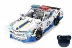 CaDa Klemmbausteine -Gt Polizeo Auto - RC Set RTR mit Fernsteuerung und Antriebsset bestehend aus 430 Teilen
