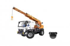 CaDa Klemmbausteine -mobiler Kran - RC Set RTR mit Fernsteuerung und Antriebsset bestehend aus 838 Teilen