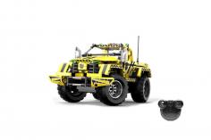 CaDa Klemmbausteine -Pick Up King 2in1 - RC Set RTR mit Fernsteuerung und Antriebsset bestehend aus 514 Teilen
