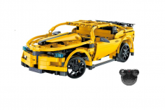 CaDa Klemmbausteine -Sport Auto - RC Set RTR mit Fernsteuerung und Antriebsset bestehend aus 419 Teilen