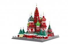 Wange Klemmbausteine - Basilius Kathedrale Moskau - 3213 Teile